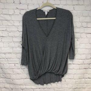Moonkiss Drape Front Dolman Sleeve Top Size Large